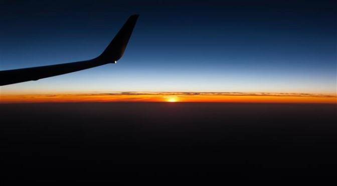 Vista dall'aereo