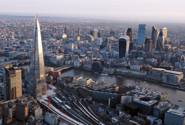 London from sky